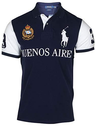(Polo RL Men's Buenos Aires Custom Fit Polo-Navy/White-Medium )