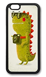 Apple Iphone 6 Case,WENJORS Adorable Dino touristo olive Soft Case Protective Shell Cell Phone Cover For Apple Iphone 6 (4.7 Inch) - TPU Black