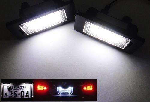 2PCS License Plate Light Kit White LED LampFit For BMW E60 525i 528i 530i 535i M5 E61 E81/E87 E63/E64 E63/E64 M6 E85/E86 Z4 645Ci, 650i