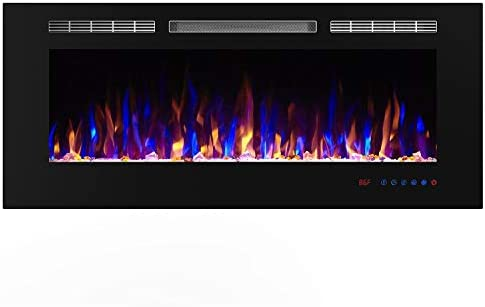 Amazon Com Simuflame 50 Inch Electric Fireplace Heater Recessed