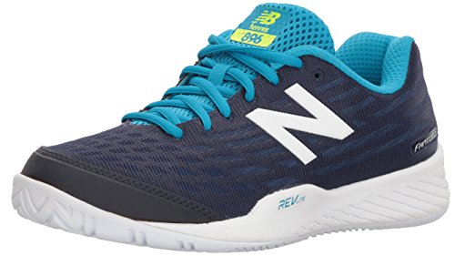 New Balance Women's 896v2 Hard Court Tennis Shoe, Navy, 8.5 B US