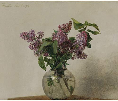 Painting Latour Fantin - Berkin Arts Henri Fantin Latour Giclee Canvas Print Paintings Poster Reproduction(Lilac) #XFB