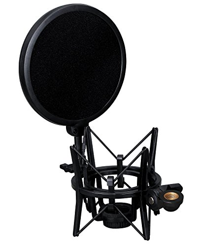 (Weymic® Intergrated Shock Mount with Pop Filter for Large Diameter Condenser Microphone for Audio-Technica AT2020)