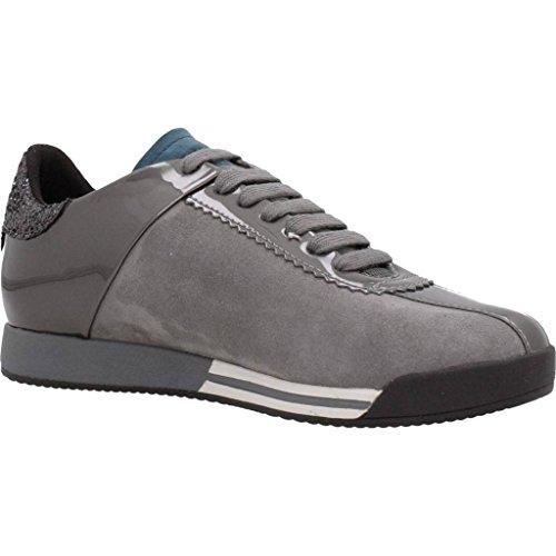 Calzado deportivo para mujer, color gris , marca GEOX, modelo Calzado Deportivo Para Mujer GEOX D CHEWA Gris