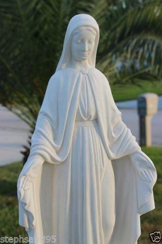 Imadethis Virgin Mary Statue Concrete Garden Lawn Outdoor Decor Bless Mother