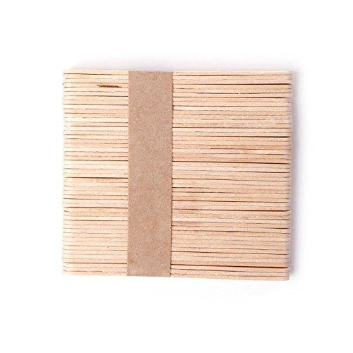 Disposable Wooden Depilatory Wax Spatula Wooden Tongue Depressor Kit Hair Removal Waxing Sticks 50Pcs