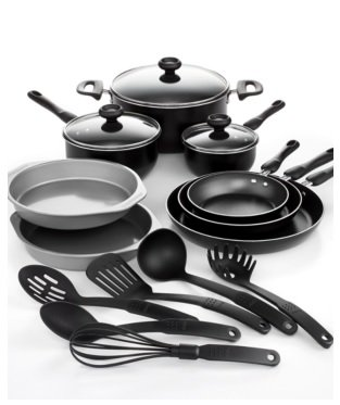 Farberware 17-Piece Cookware Set; Includes Prestige Kitchen Tools ...
