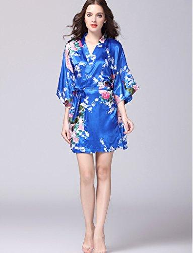BELLOO - Robe de chambre - Manches 3/4 - Femme -  bleu - Medium