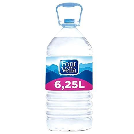 Font Vella Agua Mineral Natural - Garrafa 6,25 l: Amazon.es: Alimentación y bebidas