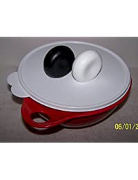 Bargain Tupperware 12 Cup Thatsa Bowl Jr. Red Bowl with White Seal & Extra Salt & Pepper Shaker Free occupation