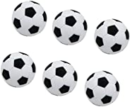 LEIPUPA 6 Pack (32mm Diameter) Table Soccer Football Foosball Balls Fussball Replacement Parts - Standard Size