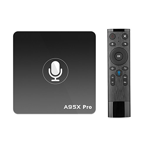 A95X Pro Android Box, 4K TV Box with Quad Core S905W 2GB/16GB Storage 4K UHD Video Playback HD 2.0 RJ45 Ethernet Port/ WiFi Voice Remote Control
