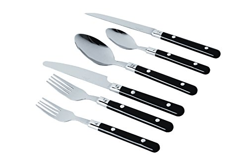 Gibson Home 58 Piece Casual Living Plastic Handled Flatware