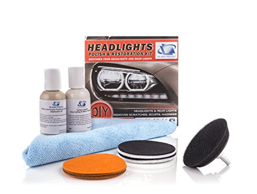 GP31016 Headlight and Tail Light Restoration kit - Removes Scratches, Restore Dull, Faded, Discolored Headlights, DIY Repair Kit