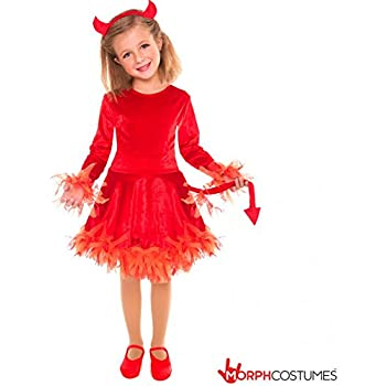 girls red devil costume small age 4 6 years