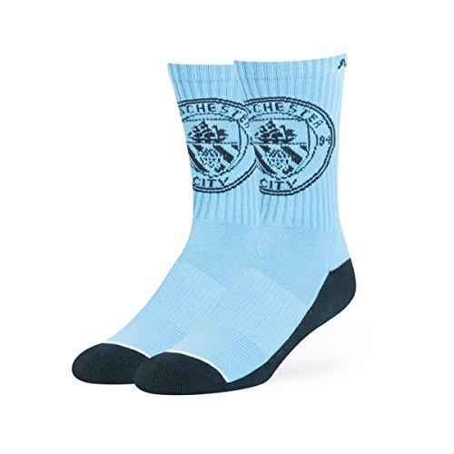 OTS EPL Manchester City Anthem Sport Socks, Large, Columbia