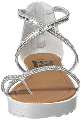 Refresh Sandalias para Plateado Silver Abierta Punta con 64202 Mujer OzwqZg