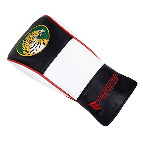 (LEGENDTIMES Golf Headcover Driver Covers Fit for 460cc Driver, White and Black Pu Leather Style #1 Driver Head Cover for Callaway Nike Taylormade Ping Mizuno Titleist Scotty Cameron )