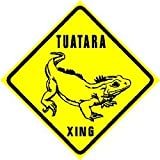 TUATARA CROSSING ZONE dinosaur lizard sign