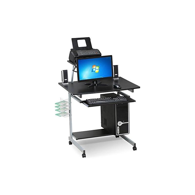 Yaheetech Mobile Computer Desks with Key