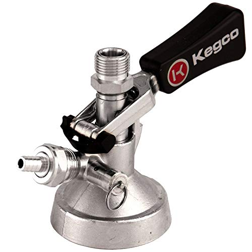 - Kegco KC KT3102W-G Keg Taps Coupler G System Ergonomic Lever Handle with Stainless Steel Probe, Brass