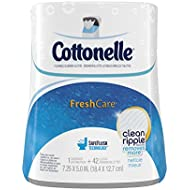 Cottonelle Fresh Care Flushable Cleansing Cloths Dispenser, 42 Count (Pack of 2)