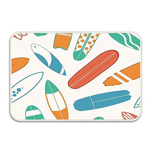 Amazon.com : DUangdglumats Surfboard Sea Surfing Pattern with Different Type Surf Desks New Doormat Remove Your Shoes Indoor/Outdoor/Front Door Mat 16 X 24 ...