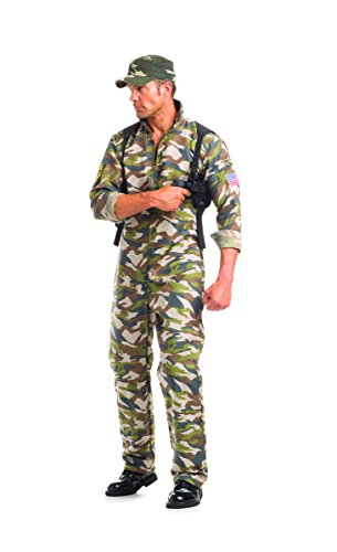 Adult Men's 2 Piece Camouflage Army Man Halloween Party (Army Commander Costume)
