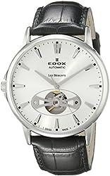 Edox Men's 85021 3 AIN Les Bemonts Analog Display Swiss Automatic Black Watch