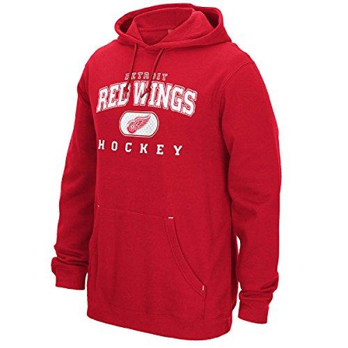 Reebok Nhl Playbook Hoody - Reebok Men's NHL Detroit Red Wings playbook Hooded Sweatshirt Red/White Size Medium