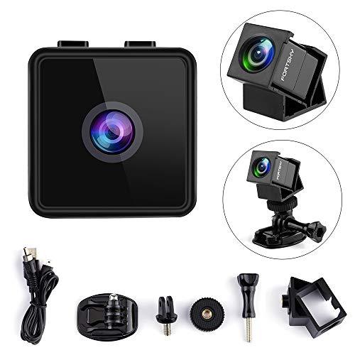 Mini Camera HD Camcorder Mini FPV Camera Hawkeye 1080P Micro Action Camera F2.8 FOV 160° Wide Angle Mini Hidden Camera Sports Camera Built-in Mic with Accessories for Drones&Cycling,Home Security Cam (Micro Camera For Rc Wireless)