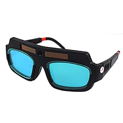 TOOGOO 1 Pieza Máscara De Soldadura De Oscurecimiento Automático Con Energía Solar Casco Gafas De Protección