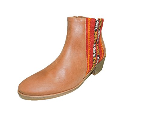 Howsty @ Anthropologie Women's Mid Brown Western Leather ...