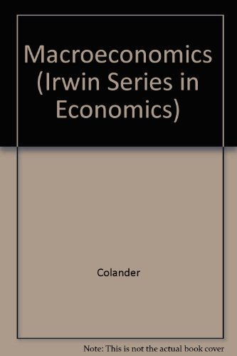 Macroeconomics (Irwin Series in Economics)