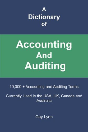 A Dictionary of Accounting and Auditing pdf epub