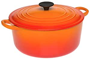 Le Creuset Enameled Cast-Iron 5-1/2-Quart Round French Oven, Flame