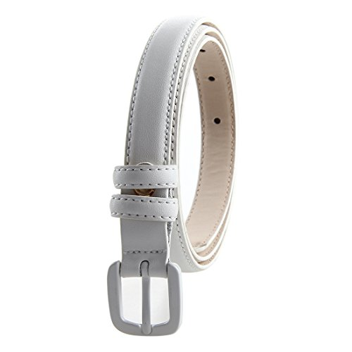 Bpstar Womens Skinny Leather Belt Solid Color with Pin Buckle Simple Waist Belts by Bpstar (Image #2)