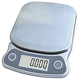 EatSmart Precision Elite Scale-15 lb. Capacity, UltraBright Display and Stai Digital Kitchen Scale, One Size, Silver