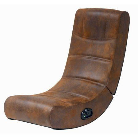 Gaming Chair, Distressed Brown Suede