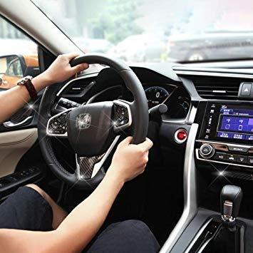 Uniqus 9 in 1 Carbon Fiber Trim Decal Stickers Whole Kits for Honda Civic