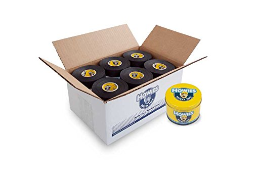 Howies Hockey Tape - Black Cloth Hockey Tape (30 pack) and FREE Tape Tin