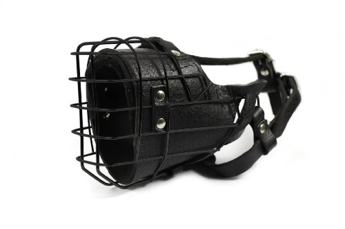 Dean and Tyler DT Freedom Winter Black Padded Muzzle, Size No. 5 - Doberman by Dean & Tyler