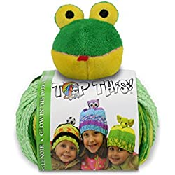 DMC DMCTTY16.FR Top This GlowInThe Dark Frog Yarn Kit