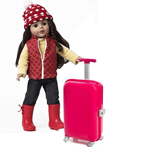 1f21c81433 18 inch Doll Travel set including Carry on Luggage with Ticket Passport &  14 accessories.