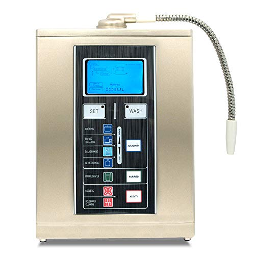 Aqua Ionizer Deluxe 7.5| Water Ionizer | Home Alkaline Water Filtration System | Produces pH 4.5-11 Alkaline Water | Up to -800mV ORP | 4000 Liters Per Filter | 7 Water Settings - Aqua-Ionizer Pro