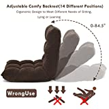 Giantex 14-Position Floor Folding Gaming Sofa Chair Lounger Folding Adjustable Sleeper Bed Couch Recliner