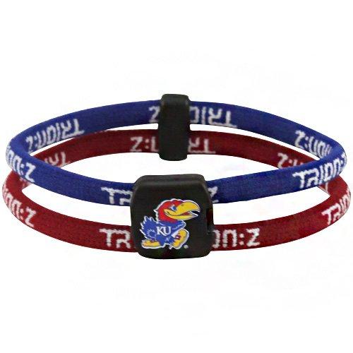 NCAA Kansas Jayhawks Wristband, Blue/Red, Small