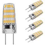 G8 LED Bulb 120V 3 Watt replace 30W G8 Halogen bulb Warm White 3000K T4 Bi-Pin Base by ZSZT for Under Counter Kitchen Lighting, Under-cabinet Light, Puck light (Pack of 5)