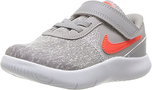 Nike 917935-006: Toddler Flex Contact Atmosphere Grey/Total Crimson Sneakers (4 M US Toddler)