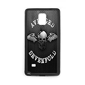 Zyhome Galaxy Note4 Personalized Avenged Sevenfold Logo HD Pic Case Cover for SamSung Galaxy Note4 (Laser Technology)